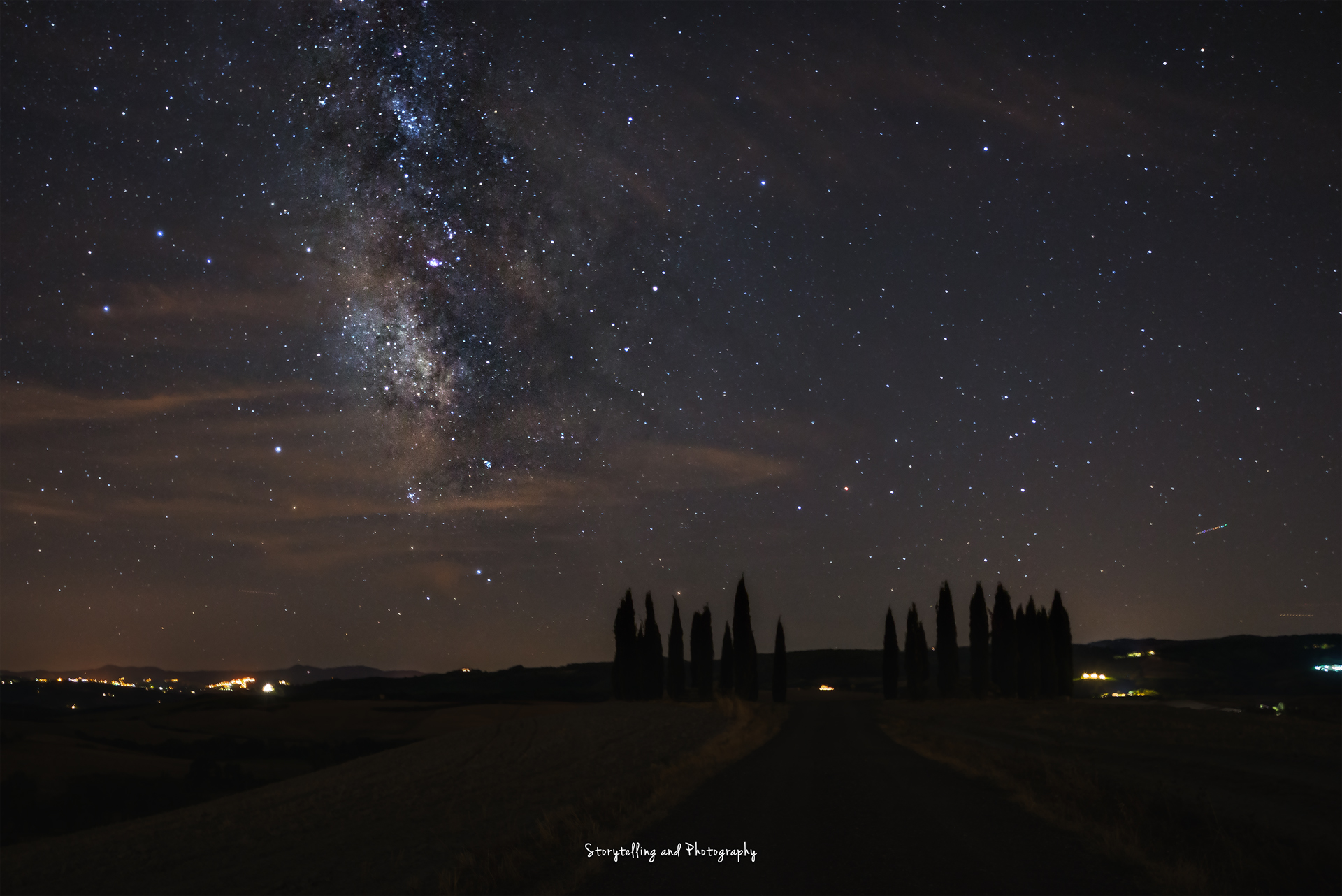 via lattea val d'orcia